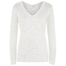 Buy Damsel in a dress Clara Sequin Jumper, White Online at johnlewis.com
