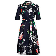 Buy Jolie Moi Retro Belted Dress, Blue Online at johnlewis.com