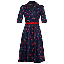 Buy Jolie Moi Cherry Shirt Dress, Navy Cherry Online at johnlewis.com