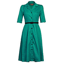 Buy Jolie Moi Retro Belted Dress, Green Online at johnlewis.com