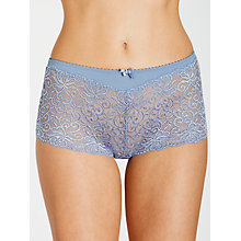 Buy John Lewis Lauren Lace Hipster Briefs, Dusk Blue Online at johnlewis.com