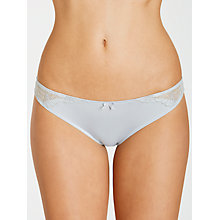 Buy John Lewis Ava Embroidered Briefs, Silver Online at johnlewis.com