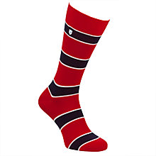 Buy Barbour Hexham Stripe Socks, Red Online at johnlewis.com