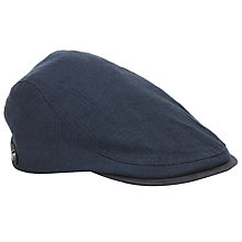 Buy Ted Baker Cotton Flat Cap, Navy Online at johnlewis.com