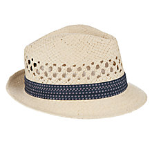 Buy Ted Baker Delmont Straw Trilby Hat, Natural Online at johnlewis.com