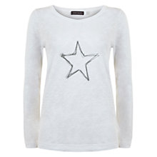 Buy Hygge by Mint Velvet Seren Print T-Shirt, White Online at johnlewis.com