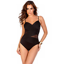Buy Miraclesuit Net Work Mystify Mesh Swimsuit, Black Online at johnlewis.com