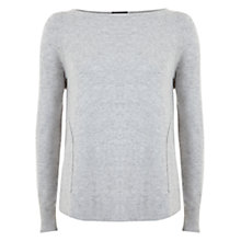 Buy Hygge by Mint Velvet Curved Hem Knit Jumper, Silver Grey Online at johnlewis.com