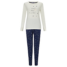 Buy John Lewis To The Moon And Back Pyjama Set, Navy Online at johnlewis.com