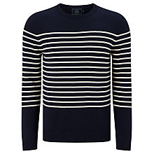 Buy John Lewis Breton Stripe Crew Neck Jumper, Navy Online at johnlewis.com