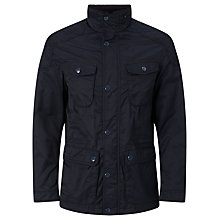 Buy John Lewis Cotton Blend Four Pocket Jacket, Navy Online at johnlewis.com