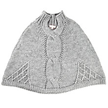 Buy Jigsaw Junior Girls' Chunky Poncho, Grey Online at johnlewis.com