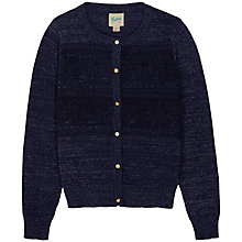 Buy Yumi Girl Lace Applique Metallic Fibre Cardigan, Navy Online at johnlewis.com