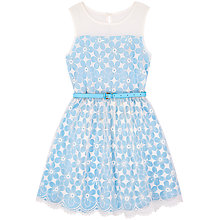 Buy Yumi Girl Embroidered Flower Prom Dress, Blue Online at johnlewis.com