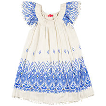 Buy Derhy Kids Girls' Aztec Print A Line Dress, Cream/Blue Online at johnlewis.com