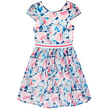 Buy Yumi Girl Pretty Rose Organza Prom Dress, Blue/Pink Online at johnlewis.com