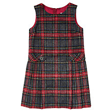 Buy Jigsaw Junior Tartan Pinafore, Red/Grey Online at johnlewis.com