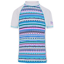 Buy Platypus Girls' Aztec Print Fitted Sunshirt, Blue Online at johnlewis.com