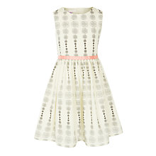 Buy John Lewis Girls' Spot Prom Dress, Cream Online at johnlewis.com