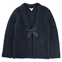 Buy Jigsaw Junior Girls' Boucle Cardigan, Navy Online at johnlewis.com