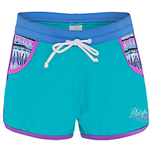 Buy Platypus Girls' Aztec Board Shorts, Green Online at johnlewis.com