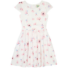 Buy Yumi Girl Floral Dobby Dress, Ivory Online at johnlewis.com