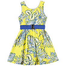 Buy Derhy Kids Girls' Floral Belted Dress. Yellow Online at johnlewis.com