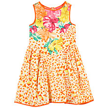 Buy Derhy Kids Girls' Floral Placement Print Dress, Orange Online at johnlewis.com