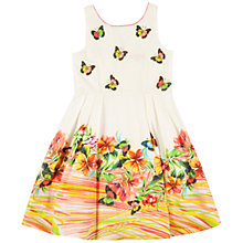 Buy Derhy Kids Girls' Butterfly Placement Dress. Cream/Multi Online at johnlewis.com