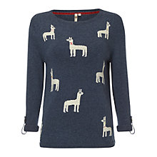 Buy White Stuff Dolly Llama Jumper, Ink Wash Online at johnlewis.com