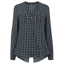 Buy Oasis Morrocan Geo Print Shirt, Multi Online at johnlewis.com