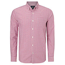 Buy John Lewis Tricolour Gingham Oxford Shirt, Pink Online at johnlewis.com