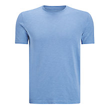 Buy JOHN LEWIS & Co. Garment Dye Slub Crew Neck T-Shirt, Denim Blue Online at johnlewis.com