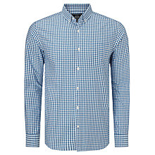 Buy John Lewis Tricolour Gingham Oxford Shirt, Blue Online at johnlewis.com
