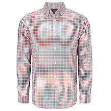 Buy John Lewis Window Check Oxford Shirt, Red Online at johnlewis.com