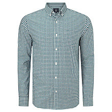 Buy John Lewis Tricolour Gingham Oxford Shirt, Green Online at johnlewis.com