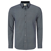 Buy John Lewis Double Collar Circle Print Shirt, Navy Online at johnlewis.com