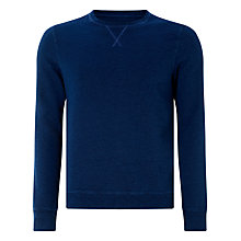 Buy JOHN LEWIS & Co. Cotton Crew Neck Sweatshirt, Indigo Online at johnlewis.com