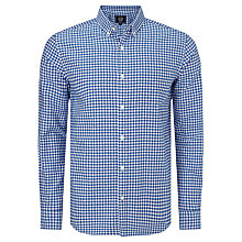 Buy John Lewis Tricolour Gingham Oxford Shirt, Navy Online at johnlewis.com