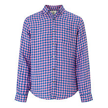 Buy John Lewis Bicolour Gingham Linen Shirt Online at johnlewis.com