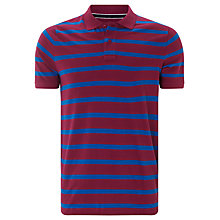 Buy John Lewis Organic Pique Cotton Breton Stripe Polo Shirt Online at johnlewis.com