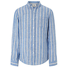 Buy John Lewis Fade Out Stripe Linen Shirt, Blue Online at johnlewis.com