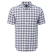 Buy John Lewis Ombre Check Short Sleeve Oxford Shirt Online at johnlewis.com