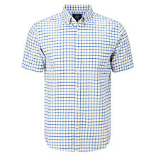 Buy John Lewis Tattersal Check Short Sleeve Oxford Shirt Online at johnlewis.com
