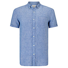Buy John Lewis End on End Short Sleeve Linen Shirt Online at johnlewis.com