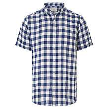 Buy John Lewis Large Gingham Short Sleeve Linen Shirt Online at johnlewis.com