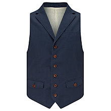 Buy JOHN LEWIS & Co. Mason Cotton Waistcoat, Navy Online at johnlewis.com