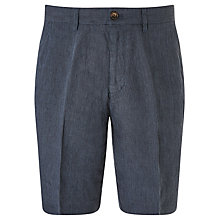 Buy John Lewis Pure Linen Stripe Shorts, Navy Online at johnlewis.com