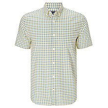 Buy John Lewis Grid Check Short Sleeve Oxford Shirt Online at johnlewis.com