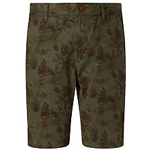 Buy JOHN LEWIS & Co. Aged Floral Print Shorts, Green Online at johnlewis.com